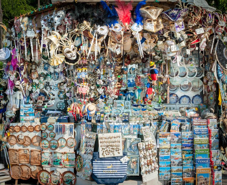 Venice street market trader stall