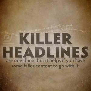 Killer headlines - Hedsite