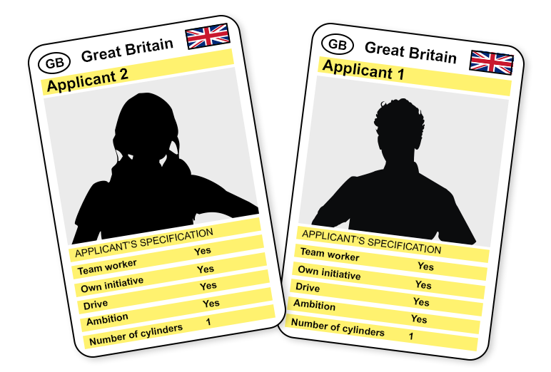 Creative job applications Top Trumps image