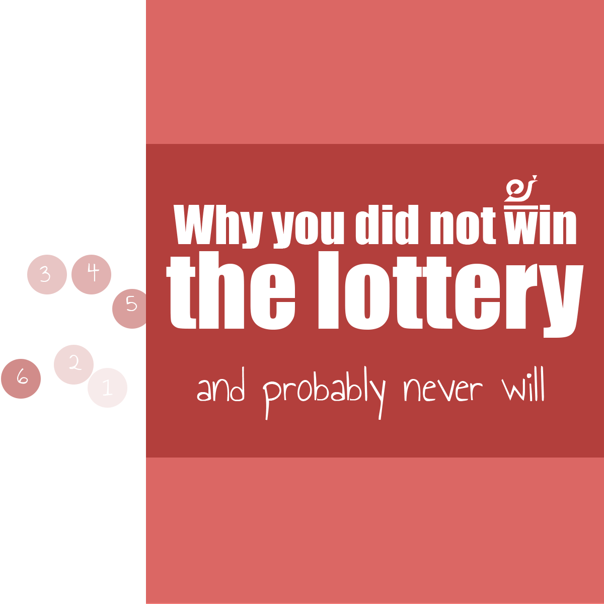 Why you did not win the lottery and probably never will.