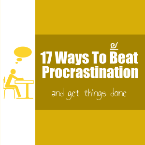 17 ways to beat procrastination and get things done picture