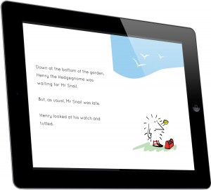 Henry the Hedgegnome has a busy day - eBook ipad b